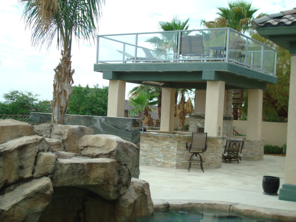 Patio Cover with Top Deck Design by Custom Outdoor Living
