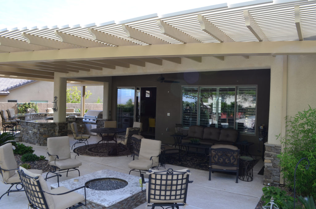 Custom Wood Slat Patio Cover Design and Construction by Custom Outdoor Living